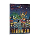 Disney World Tomorrowland Poster, dekoratives Gemälde,