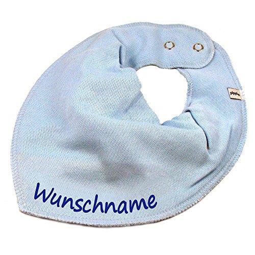 Elefantasie Elefantasie HALSTUCH mit Namen oder Text personalisiert hellblau für Baby oder Kind