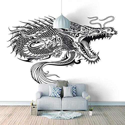 Fototapete Graffiti-Drache 200x140cm Selbstklebend Wandgemälde Wand Dekoration Schlafzimmer Tapete