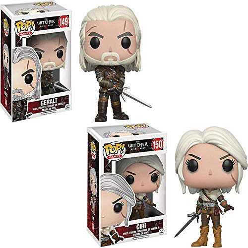 Funko-Pop-The Witcher Vinilo CIRI y Geralt Coleccion de Figuras de accion Modelo Juguetes Regalo de cumpleanos para ninos sin Caja