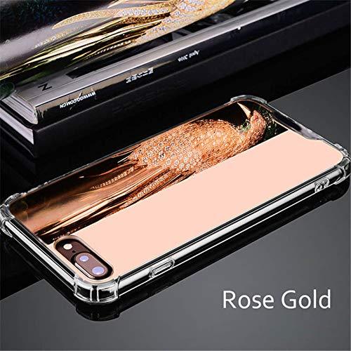 Artfeel Miroir Coque pour Samsung Galaxy Note 8, Très Mince Léger Clair Souple Silicone TPU Pare-Chocs Étui,Anti-Rayures Antichoc Miroir de Maquillage Arrière Housse Couverture-Or Rose
