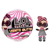 L.O.L. Surprise Light Glitter Ball 8 Including 1 Glitter Doll 8 cm Glow in the Dark Light Lamp Black...