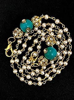 Shoppy Handmade Fashionable Face Mask Mask Chain   Spectacles Holding Chain & Necklace Made Out From Ceramic And Crystal B...