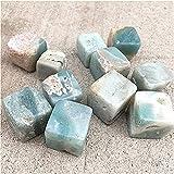 AILIUQIAN Cubo DE CALUPITO del Caribe CUBIO TIENDO Cristales Cuadrados Cuadrados Piedras de curación para la decoración del hogar Cristales de Piedra (Color : 20-30mm, Size : 100g)