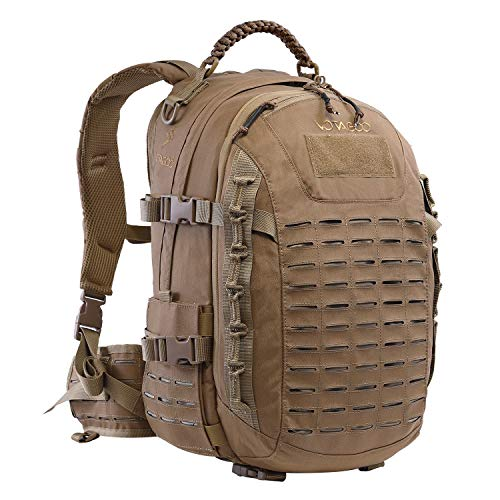 YEVHEV Rucksack Taktische Trekkingrucksacke Molle 30L Wassdicht US Armee Wanderrucksäcke Camouflage für Wandern,Reisen,Outdoor,Trekking