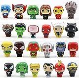 24 Pieces Mini Superhero Cake Toppers - Super Hero Cake Decorations, Home Decoration - Titan Hero Sculpture Worth Collecting (24 Pieces)