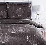 AmazonBasics Parure de lit avec housse de couette en microfibre, 240 x 220 cm, Gris (Industrial Grey)