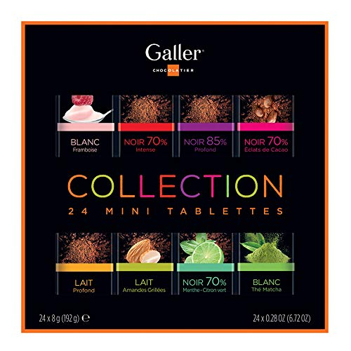 Galler ガレー バレンタイン チョコレート ベルギー王室御用達 ホワイトデー ミニタブレットギフトボックス (24個入)