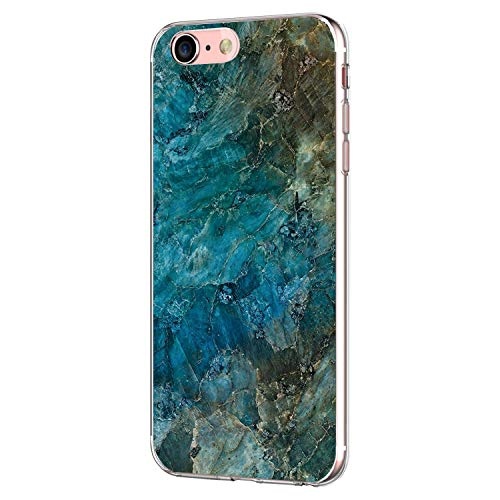 Pacyer iPhone 7 Hülle iPhone 8 Hülle Silikon Ultra dünn Transparent Handyhülle Durchsichtige Rückschale TPU Schutzhülle für Apple iPhone 7/8 Case Cover Marmor (2)