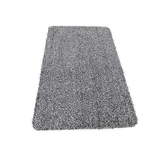 ASOSMOS Magisch Super Absorbierend Matte Reinigung Schnell Trocknend rutschfest Fußmatte 46x70cm - Schwarz