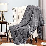 Weighted Blanket Adult Queen Size 15lbs 48''x72'' Oeko-TEX Certified 100% Natural Cotton...