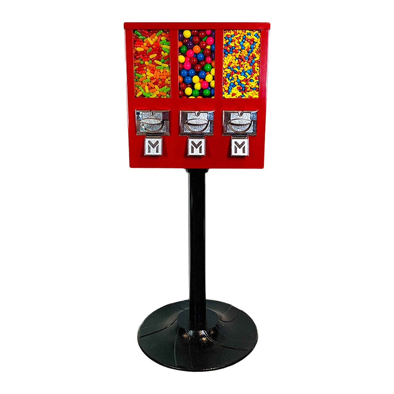Red All Metal Triple Compartment Machine Many popular brands gift Vending Commercial for