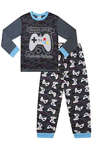 Gaming-Pyjama für Jungen, lang - Schwarz - Klein