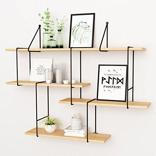 WXQIANG Estantería de cocina de 4 niveles, para montar en la pared, material de madera, estilo nórdico, varios tamaños, opcional, duradero y protector (tamaño: 120 cm)