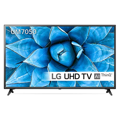 LG 55UM7050PLC 55 inch UHD 4K HDR Smart LED TV with Freeview Play - Ceramic Black Colour (2020 Model) [Energy Class A+]