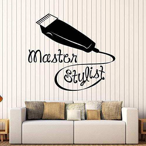 yaonuli Vinyl Wandtattoo Stylist Friseur Friseur Wandaufkleber Shop Wandbild 90X52cm