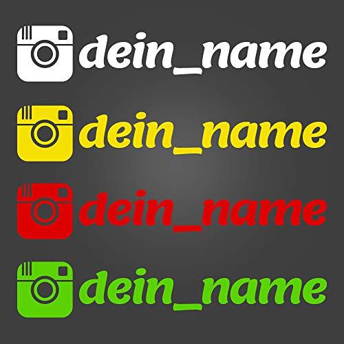 Instagram Aufkleber mit Wunschtext - Länge: 14cm