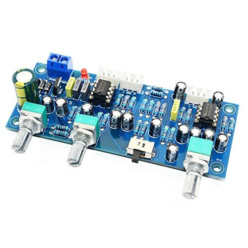 Sylvialuca 2.1-Kanal-Subwoofer-Vorverstärkerplatine Tiefpassfilter Pre-AMP-Verstärkerplatine Tiefpassfilter Bass-Vorverstärker NE5532
