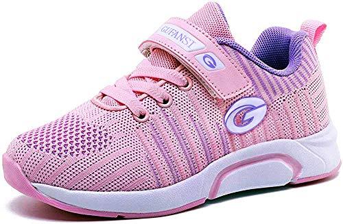 GUFANSI Fitnessschuhe Mädchen 29 Turnschuhe Mädchen Laufschuhe Sportschuhe Leicht Hallenschuhe Atmungsaktiv Outdoor Sneaker Pink Kinderschuhe Walkingschuhe Fitness Laufen Schuhe für Unisex-Kinder