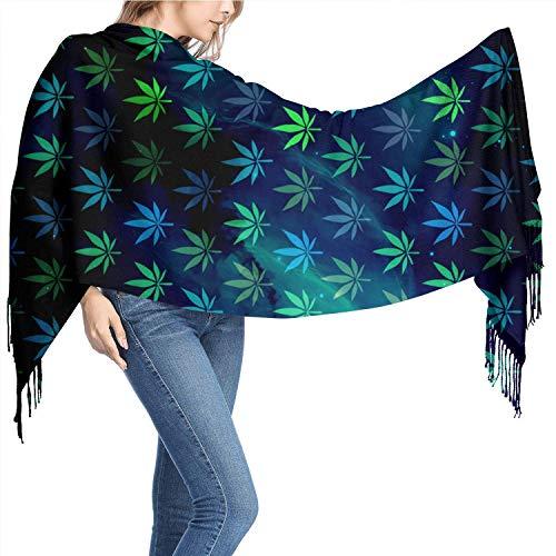 NCH UWDF Semillas de cannabis Autofloreciente Bufandas de cachemira para mujer Bufandas Bufandas para mujeres Bufanda para mujeres Bufanda suave 77
