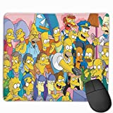 S-i-mp-Son Mouse Pad Natural Rubber Mouse Mat for Office,Home,Gamer-9.8x11.8 Inches