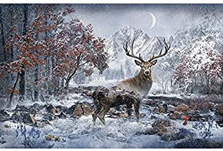 Hoffman Fabrics -Call of the wild- December- 4460-597 Fabric by the Panel