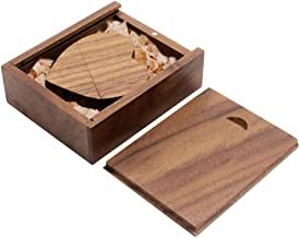 Ace one Wooden Heart Shape USB Flash Drive USB Memory Stick Thumb Drivers 8gb 2.0 High Speed with Matching Box for Novelty Gift(Walnut 8g)