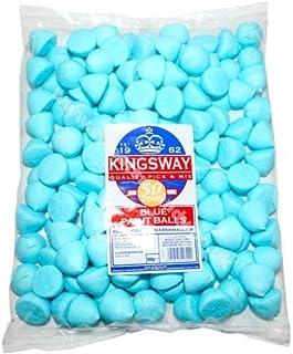 Bolas de azúcar pintadas de malvaviscos azules - 900 g a granel
