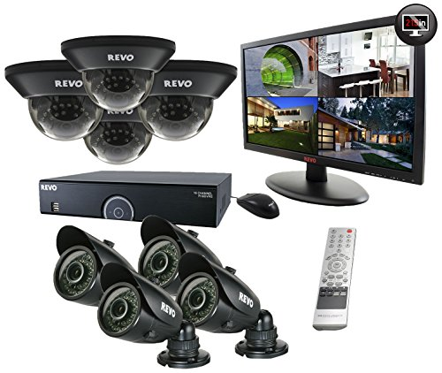 REVO America R165D4GB4GM21-2T 16 Channel 2TB 960H DVR Surveillance System with 8 700TVL 100-Feet ...