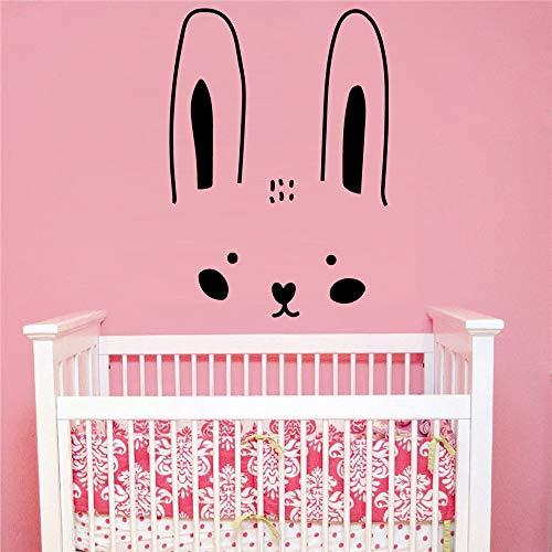 sanzangtang Kinderzimmer Dekoration Wandkunst Aufkleber für Kaninchen Vinyl Tapetenrolle Dekoration Möbel,