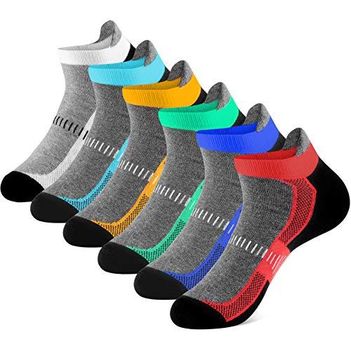 Newdora Socken für Herren Damen Kurze Halbsocken Baumwolle Trekkingsocken Atmungsaktiv Sportsocken Hochleistung Laufsocken für Fitness,Laufen,Joggen und Zuhause (43-46)