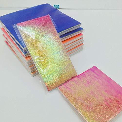50 pc/set de origami cuadrado multicolor de un solo lado brillante plegable de papel de color sólido DIY scrapbook manualidades decoración