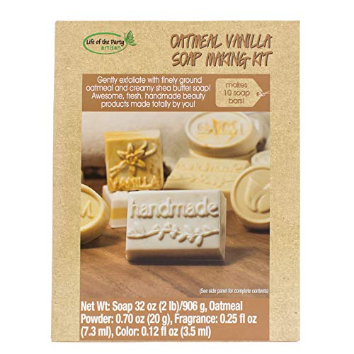 Life of the Party Oatmeal Vanilla Soap Making Kit,