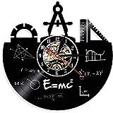 Formula matematica Equazione Coordinate Bussola Art Vinyl Record Hanging Teaching Clock Formula Theorem Clock 30x30cm