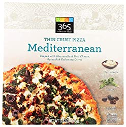 365 Everyday Value, Mediterranean Thin Crust Pizza, 13.57 oz, (Frozen)