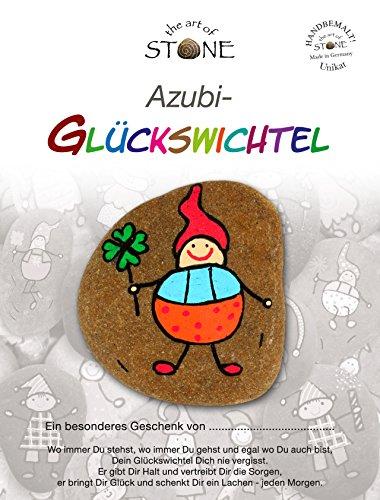 The Art of Stone Azubi Glückswichtel - Geschenk Unikat aus Naturstein - Glücksbringer, Geschenkidee, Handschmeichler, Mutmacher und Trostspender