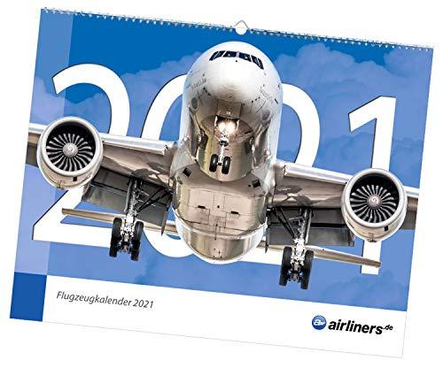 airliners.de Flugzeugkalender 2021 - Großformat 48cm x 38cm - aktuelle Flugzeuge und Fluggesellschaften - Airbus, Boeing und andere Verkehrsflugzeuge