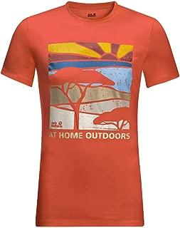 Jack Wolfskin Mens Savannah T-Shirt - Saffron Orange - L