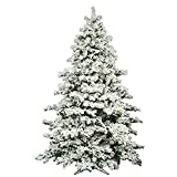 AMERIQUE 691322309737 7 FEET Premium Artificial Full Body Shape Christmas Tree with Metal...
