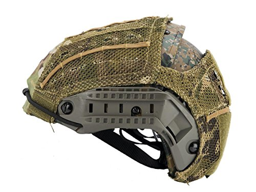 DLP Tactical Helmet Cover for AirFrame and Similar Combat Helmets (Camo)