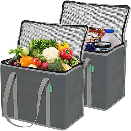 BOLSA DE ALMACENAMIENTO DE AISLAMIENTO OXFORD Paño Lavable y reutilizable Bolsa de trabajo Refuerzo de la manija reforzada Adecuada para camping al aire libre (2 piezas)