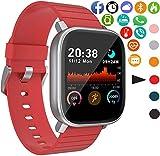 Smartwatch Fitness Tracker Orologio Pwatch5, 1,4 pollici Touch Full Screen 180mAh per lavorare 15~30 giorni, Smart Watch Cardiofrequenzimetro da Polso Contapassi Impermeabile IP68 per Android e iOS