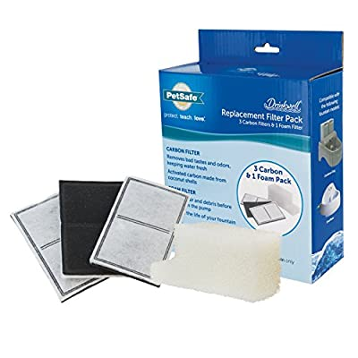 PetSafe Drinkwell Outdoor Dog And Cat Water Fountain Replacement Filter Kit