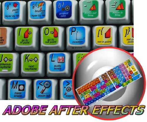 NEW ADOBE AFTER EFFECTS KEYBOARD STICKER FOR DESKTOP, LAPTOP AND NOTEBOOK