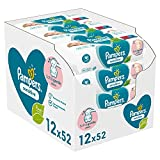 Pampers Sensitive Baby Feuchttücher, 624 Tücher