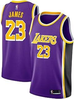 Runvian Camiseta de Baloncesto para Hombre, NBA Lebron James # 23 LA Lakers Retro Jugador