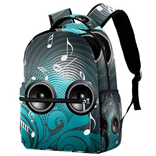 Mochila de música con altavoz escolar, mochila de viaje, casual, para mujeres, adolescentes, niñas y niños