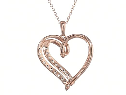 Esberry ✦Gifts for Valentines Day✦ Forever Love Heart Necklace 18K Gold Plated 925 Sterling Silver Birthstone Pendant Necklace with 5A Cubic Zirconia Birthday Gifts for Women and Girls