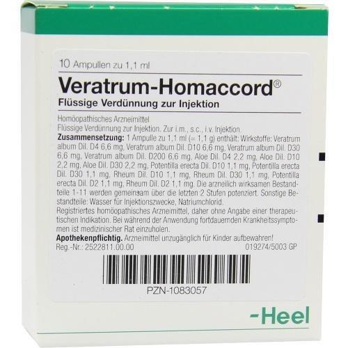 VERATRUM HOMACCORD 10St Ampullen PZN:1083057