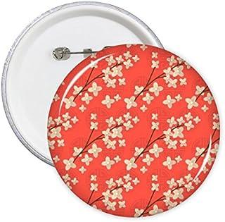 DIYthinker Japon Mignon Culture japonaise Sakura Branch style Art Répétition Illustration rond Motif Pins Badge Bouton Déc...